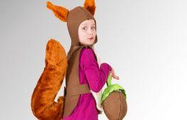 Как сшить костюм белочки на новый год в садик или школу для девочки