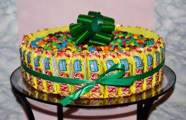 Торт из конфет своими руками: пошаговый мастер-класс