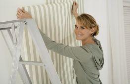 Как правильно оклеить стены или потолок виниловыми обоями