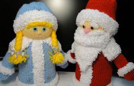 Поделки на Новый год: Дед Мороз и Снегурочка своими руками