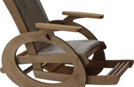 Кресло-качалка из фанеры: мечта садовода своими руками