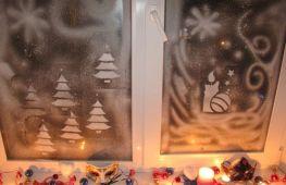 Как разрисовать окна на Новый год: секреты традиционного украшения