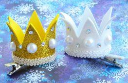 Детская корона на праздник Нового года. Как своими руками сделать красивый аксессуар для своей принцессы или снежинки