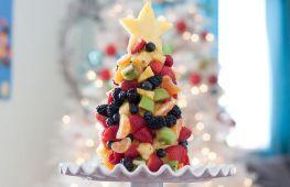 Оригинальная ёлка из фруктов на новый год своими руками