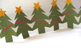 Новогодняя гирлянда из бумаги: 3 инструкции по созданию чуда