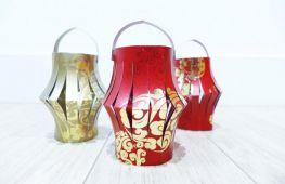 Новый год: идеи декора на праздник. Как сделать фонарики разной формы из цветной бумаги