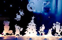 Мастерим своими руками: оригинальные вырезки на окна на Новый год
