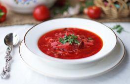 Как приготовить красный борщ со свеклой и капустой