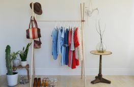 Как сделать элегантную напольную вешалку для повседневной одежды своими руками
