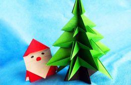 Оригинальные игрушки-оригами из бумаги на Новый Год