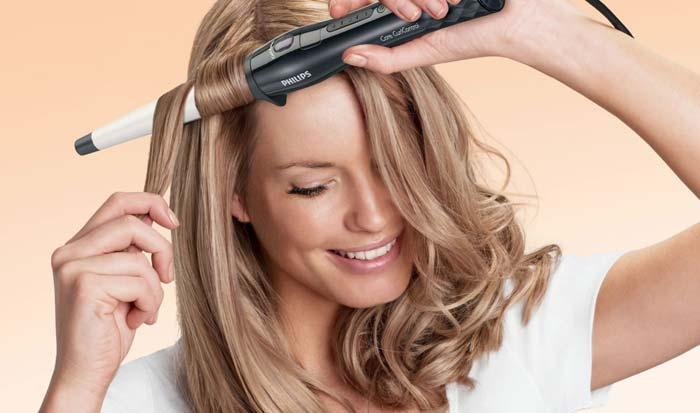 Обязательно используйте защитные средства для волос, если накручиваете ее плойкой