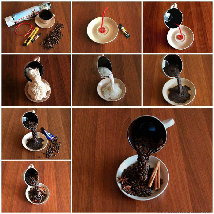 Изготовление топиария Парящая чашка