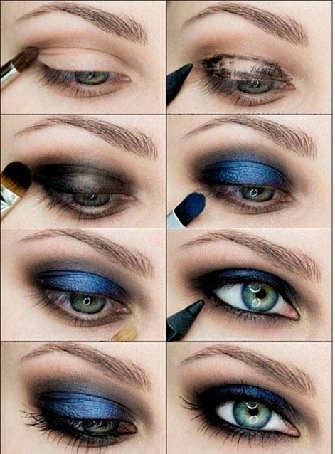 Вечерний макияж глаз пошагово