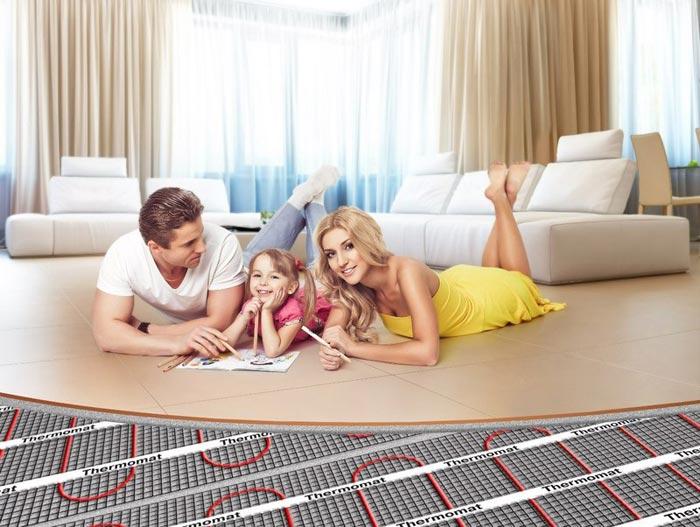 При монтаже теплого пола учитывайте расположение мебели