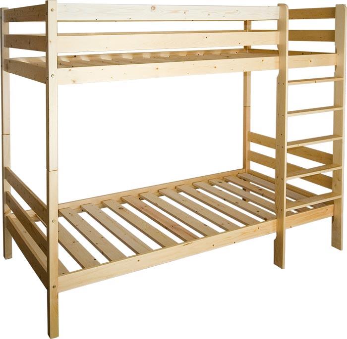 Двухъярусная кровать станет полезной для семьи с несколькими детьми