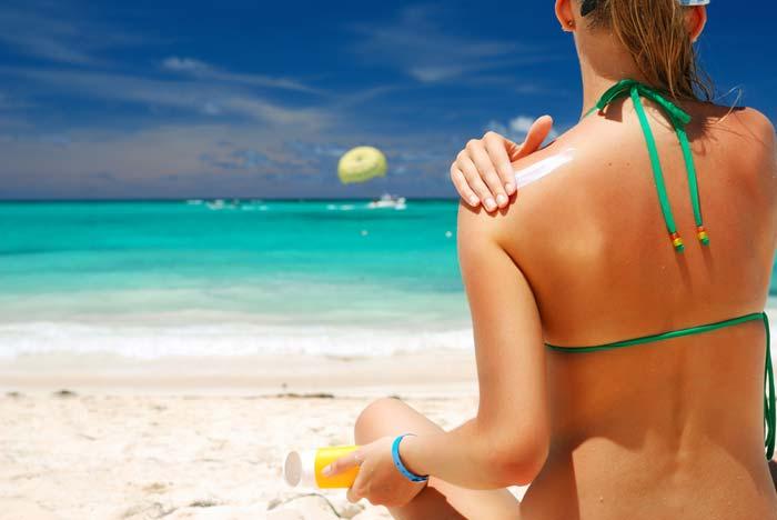 Не забывайте наносить солнцезащитный крем