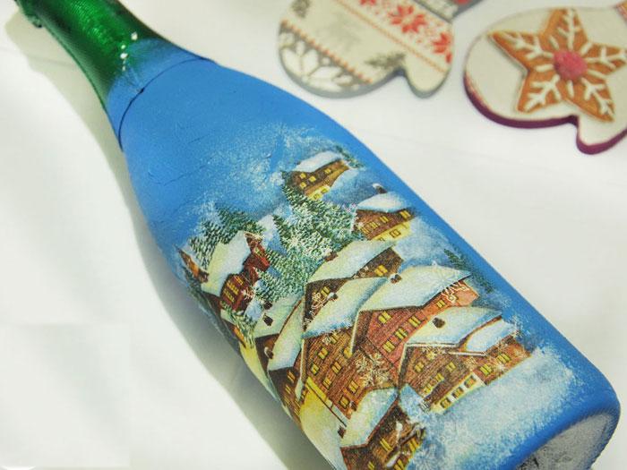 Такая бутылка шампанского станет необычным подарком для друзей и близких