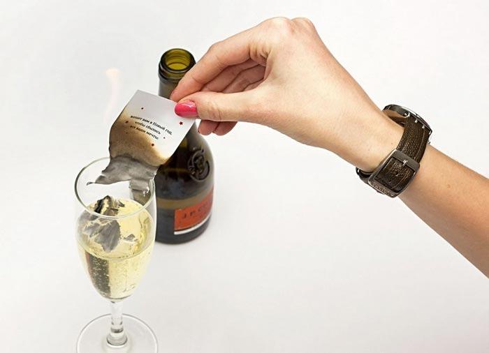 Самый популярный ритуал - Пепел в шампанском