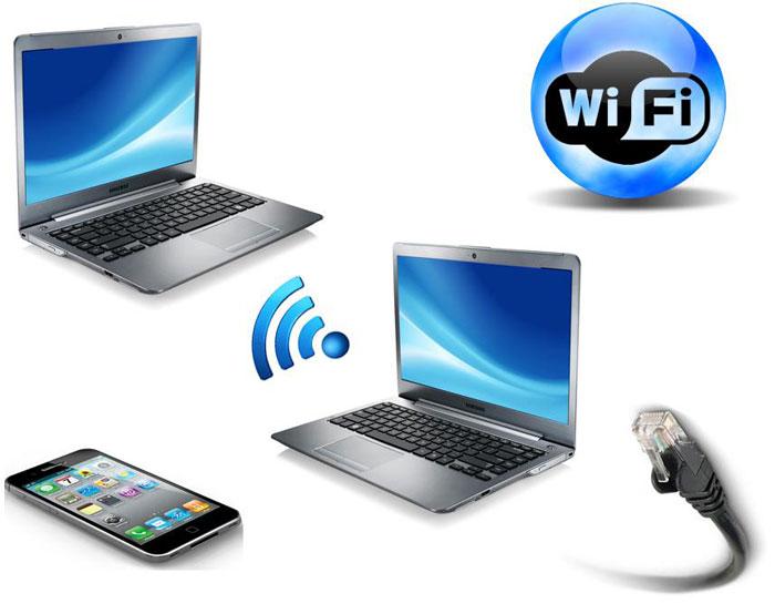 """Во вкладке """"Сетевое подключение"""" можно настроить раздачу wi-fi"""