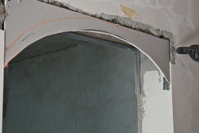 Установка арки