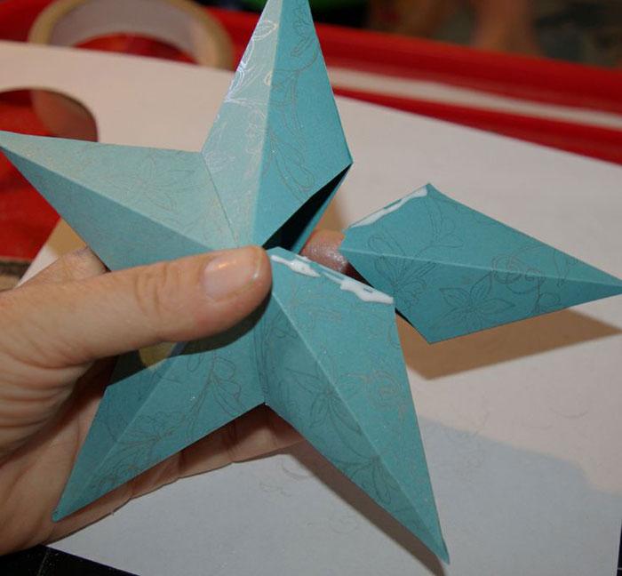 Пятиконечная звезда из отдельных элементов