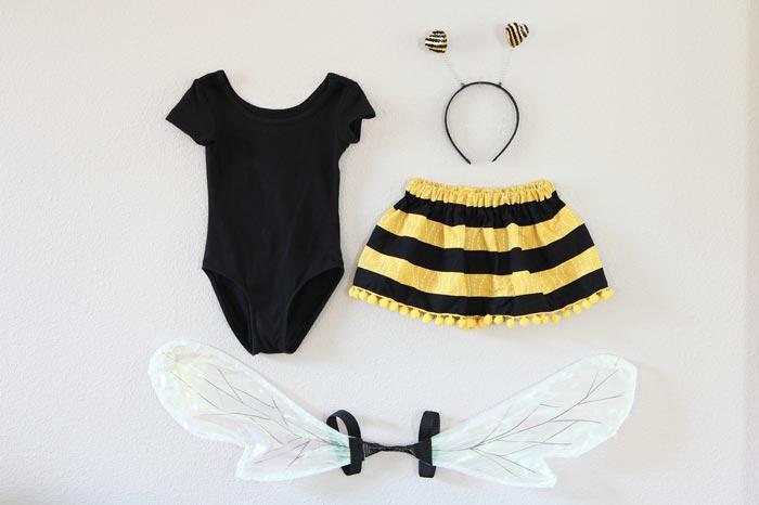 Костюм пчелки на основе боди и юбочки