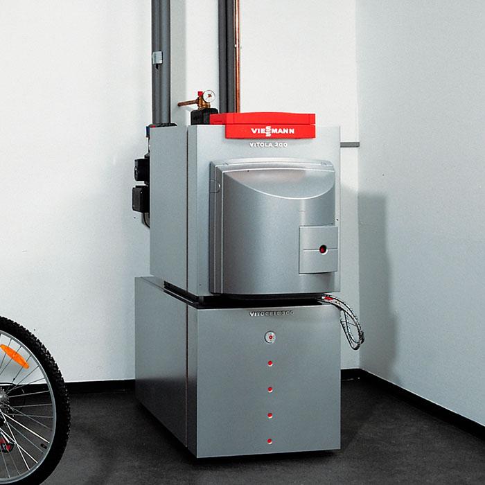 Комбинированный котел позволяет использовать газ и дизельное топливо поочередно