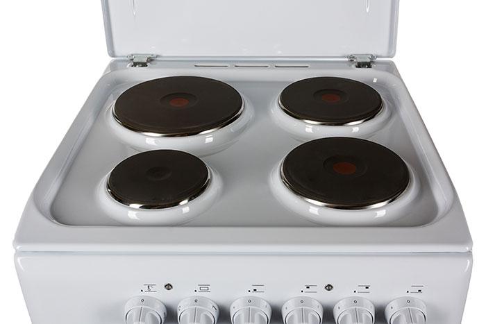 Самый простой вариант электрической плиты - эмалированная