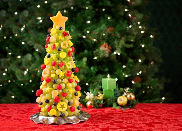 Елочка из фруктов украсит стол и станет прекрасным десертом