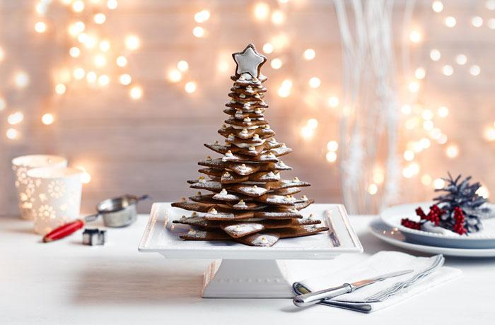 Оригинальная подача имбирного печенья к столу