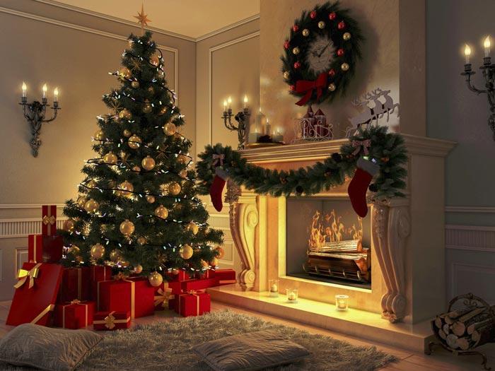 Классический вариант украшения елки