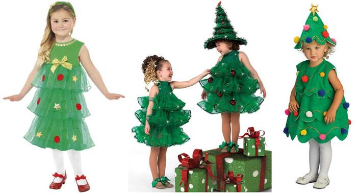 Идеи костюма елочки для девочки