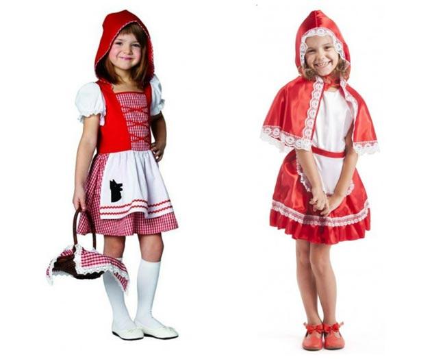 Обычно костюм красной шапочки выполняют в красно-белых тонах