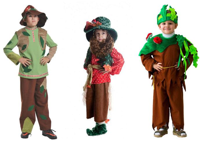 Используйте веточки и листья для декорирования костюма