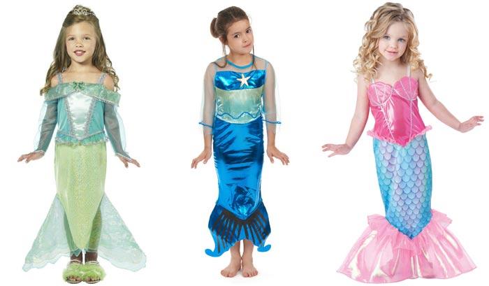 Используйте блестящие ткани для костюма русалочки