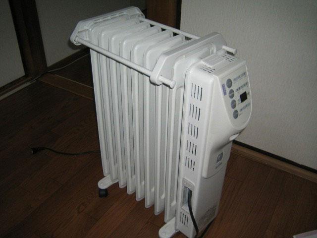 Масляные обогреватели работают бесшумно и в короткий срок могут обогреть комнату