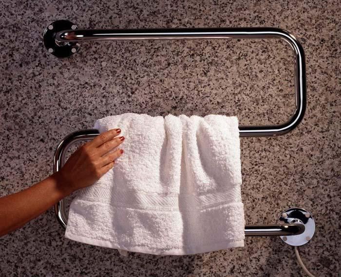 Электрический сушитель не зависит от отопления и подачи горячей воды