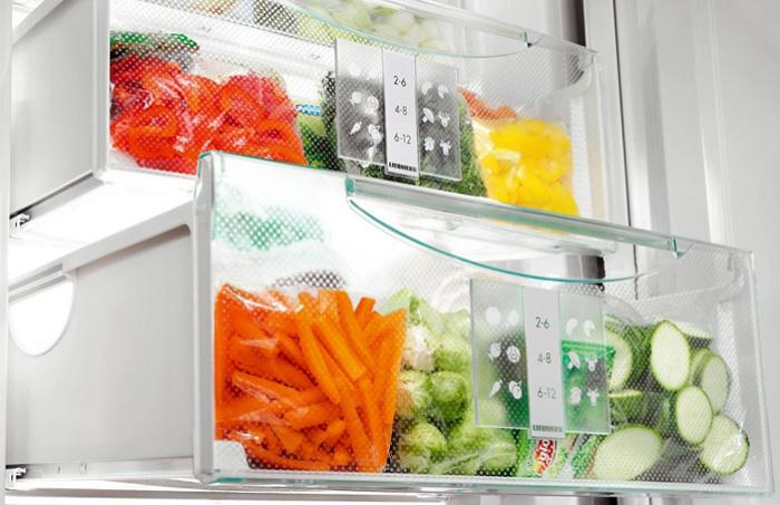Морозильная камера позволяет сохранить овощи свежими круглый год