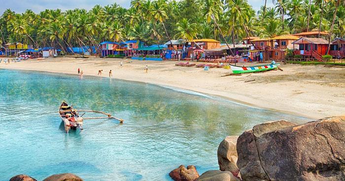 Пляж северного Гоа