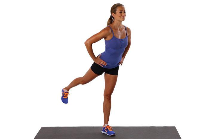 Отведение ноги в сторону и назад