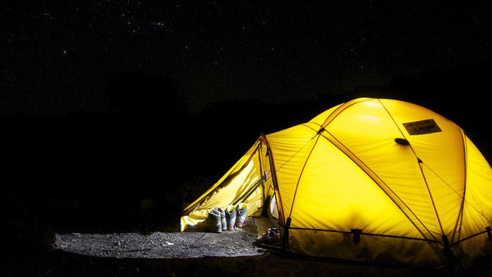 Обратите внимание на материал изготовления палатки