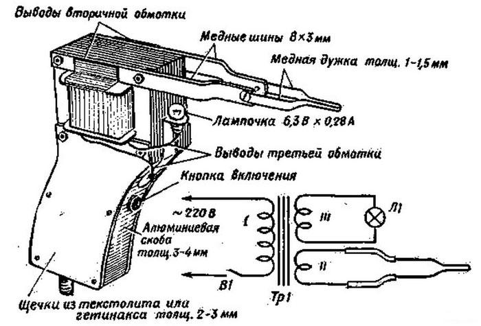 Паяльник из проволочного резистора