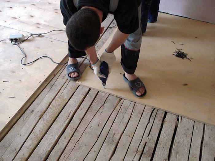 Подготовка основания деревянного пола