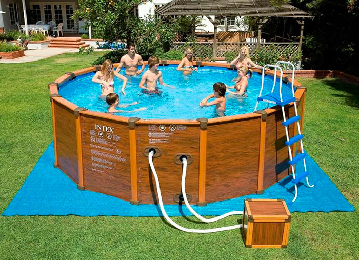 Каркасный бассейн позволяет установить систему фильтрации и постоянно не сливать воду