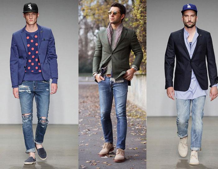 Длина джинс зависит от их стиля