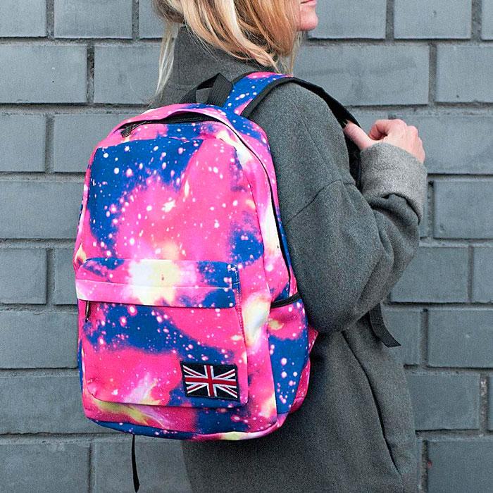 Тканевые рюкзаки популярны у подростков 13-14 лет
