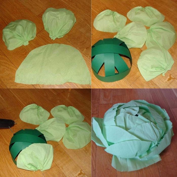 Сшить шапку капусты