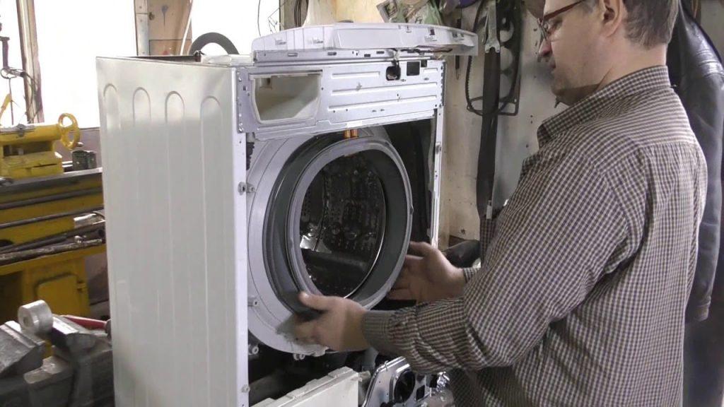 Замена уплотнительной резинки люка стиральной машины