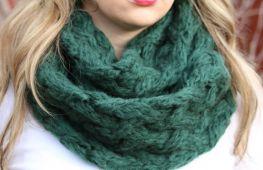 Красивый шарф снуд своими руками: как связать начинающим мастерицам