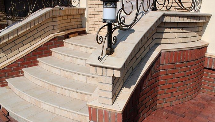 Лестница из кирпича своими руками в доме 26